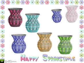 Sims 3 — Happy Springtime Vase 1 by BuffSumm — Decorative Set to bring the spring back :)