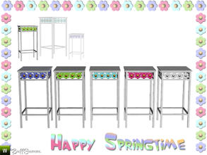 Sims 3 — Happy Springtime Endtable 2 by BuffSumm — Decorative Set to bring the spring back :)