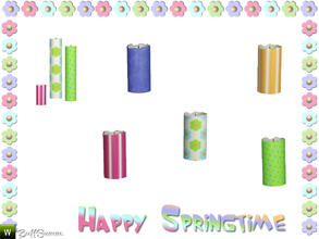 Sims 3 — Happy Springtime Candle 1 by BuffSumm — Decorative Set to bring the spring back :)
