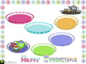 Sims 3 — Happy Springtime Tray by BuffSumm — Decorative Set to bring the spring back :)
