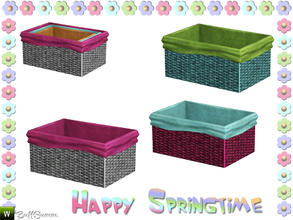 Sims 3 — Happy Springtime Basket 1 by BuffSumm — Decorative Set to bring the spring back :)