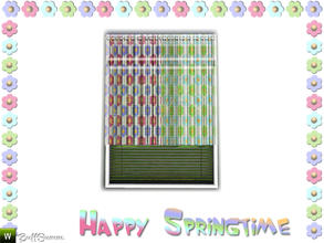 Sims 3 — Happy Springtime Curtain 4 by BuffSumm — Decorative Set to bring the spring back :)