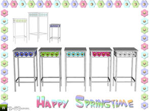 Sims 3 — Happy Springtime Endtable 3 by BuffSumm — Decorative Set to bring the spring back :)