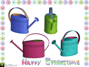 Sims 3 — Happy Springtime Watering-Can by BuffSumm — Decorative Set to bring the spring back :)