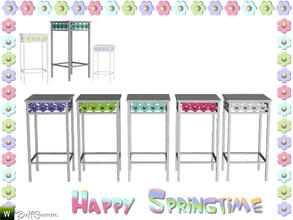 Sims 3 — Happy Springtime Endtable 1 by BuffSumm — Decorative Set to bring the spring back :)