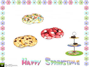 Sims 3 — Happy Springtime Cookies by BuffSumm — Decorative Set to bring the spring back :)