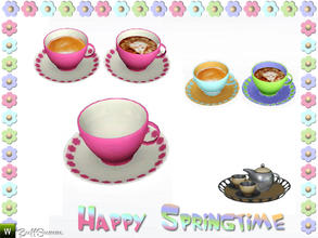Sims 3 — Happy Springtime Teacup by BuffSumm — Decorative Set to bring the spring back :)