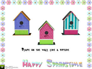 Sims 3 — Happy Springtime Birdhouse 1 by BuffSumm — Decorative Set to bring the spring back :)