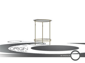 Sims 2 — Project 0001 Origin - End Table by Emma_O — end table for Project 0001 Origin.
