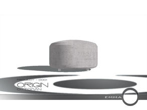 Sims 2 — Project 0001 Origin - Ottoman by Emma_O — ottoman for Project 0001 Origin.