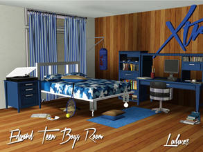 Sims 3 — Edward Teen Boys Room by Lulu265 — This was request by a friend of mine who said I always only make girls rooms.