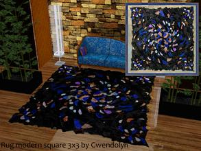 Sims 3 — GW_Rug modern square by Gvendolin2 — Handmade plush carpet looks great in any kind of interior.