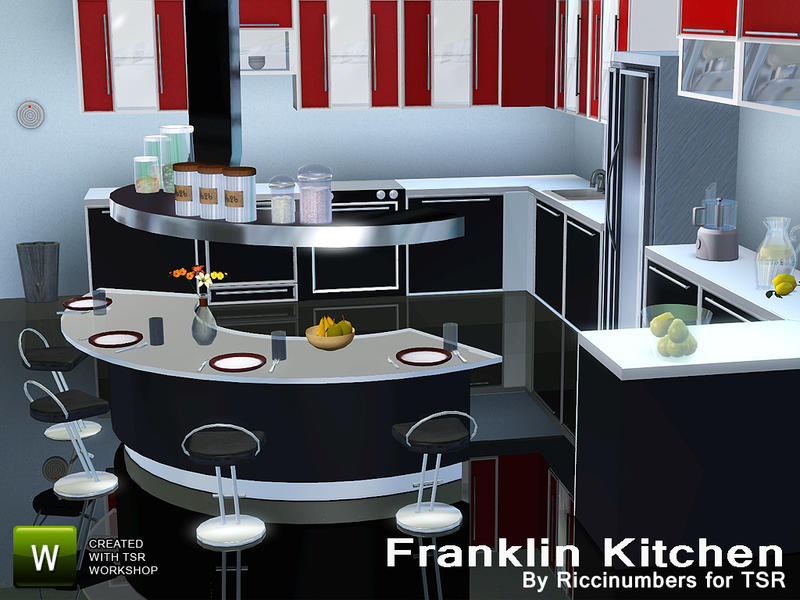 Thenumberswoman 39 s franklin kitchen for Sims 3 kitchen designs