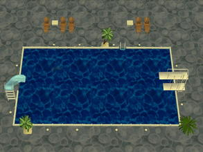 Sims 2 — Soakability Terrain Set - 1 by zaligelover2 — Water terrain. Sims will not swim, but walk upon the ground as if