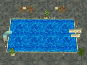 Sims 2 — Soakability Terrain Set - 3 by zaligelover2 — Water terrain. Sims will not swim, but walk upon the ground as if