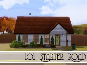 Sims 3 — 101 Starter Rd by sims_freak_2008 — This 1 bedroom and 1 bath with a nice patio in the back is perfect for a new