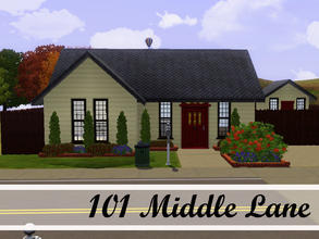 Sims 3 — 101 Middle Lane by sims_freak_2008 — This house offers 2 bedrooms, 1 bath, a nice backyard with a play house