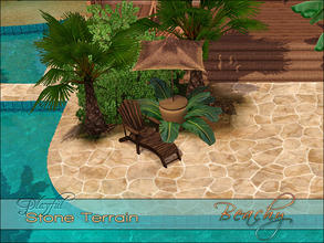 Sims 3 — Playful Stone Beachy by Playful — A high quality Spanish Mediterranean inlaid stone terrain paint.