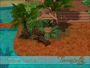 Sims 3 — Playful Stone Terracotta by Playful — A high quality Spanish Mediterranean inlaid stone terrain paint.
