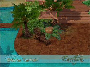 Sims 3 — Playful Stone Earthen by Playful — A high quality Spanish Mediterranean inlaid stone terrain paint.