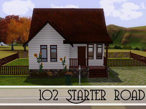 Sims 3 — 102 Starter Road by sims_freak_2008 — this 1 bedroom and 1 bath has a nice landscape, decorated with a country
