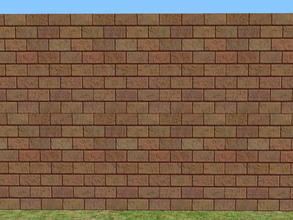 Sims 2 — Skybrick Walls - chocolate by zaligelover2 — Bricks for walls.