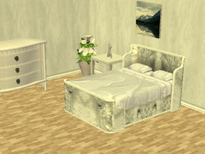 Sims 2 — Parsimonious Bed Recolors - white by zaligelover2 — Recolor of a Parsimonious bed. Mesh required.