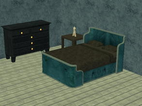 Sims 2 — Parsimonious Bed Recolors - blue by zaligelover2 — Recolor of a Parsimonious bed. Mesh required.