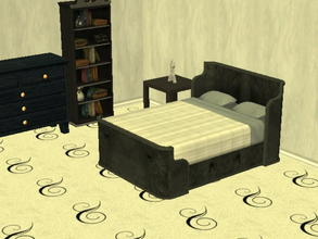 Sims 2 — Parsimonious Bed Recolors - black by zaligelover2 — Recolor of a Parsimonious bed. Mesh required.