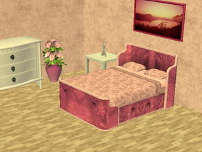 Sims 2 — Parsimonious Bed Recolors - pink by zaligelover2 — Recolor of a Parsimonious bed. Mesh required.