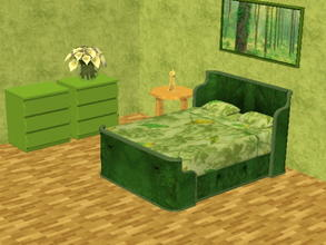 Sims 2 — Parsimonious Bed Recolors - green by zaligelover2 — Recolor of a Parsimonious bed. Mesh required.