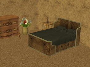 Sims 2 — Parsimonious Bed Recolors - brown by zaligelover2 — Recolor of a Parsimonious bed. Mesh required.