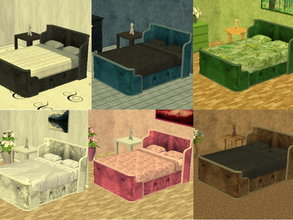 Sims 2 — Parsimonious Bed Recolors by zaligelover2 — 6 recolors of a Parsimonious bed.