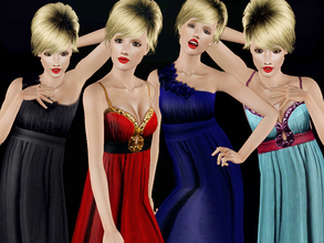 Sims 3 — Award Evening by simseviyo — A new set with 2 beautiful evening dresses