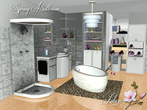Sims 3 — Spring Bathroom by Lulu265 — Spring is almost here. Time for a bathroom makeover. This bathroom can either be