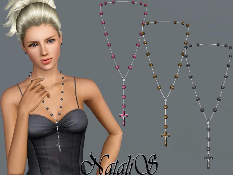 Natalis Rosary Bead Necklace Fa Ya