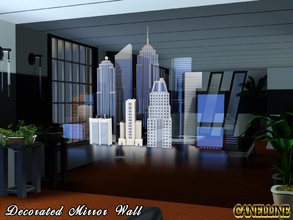 Sims 3 — Decorated Mirror Wall 5 Variations by Canelline — A simple way to decorate your house, with a splendid design.