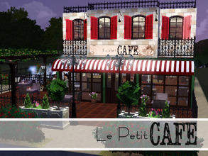 Sims 3 — La Petit Cafe by sims_freak_2008 — Come and enjoy the French decor of La Petit Cafe. This beautiful hangout