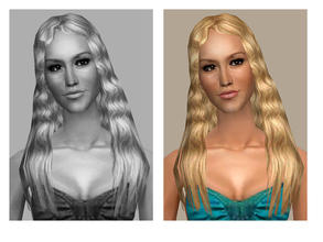 Sims 2 — Straight & Casual - MESH by Cleotopia — Low poly simple straight hair as used on most of my celebrity sims.