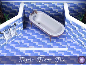 Sims 3 — Tetris Floor by D2Diamond — Tetris design is recolorable in four parts. Part of the Tetris Collection. Designed