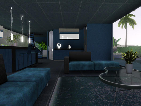 Pralinesims 39 Dark Blue Glass House