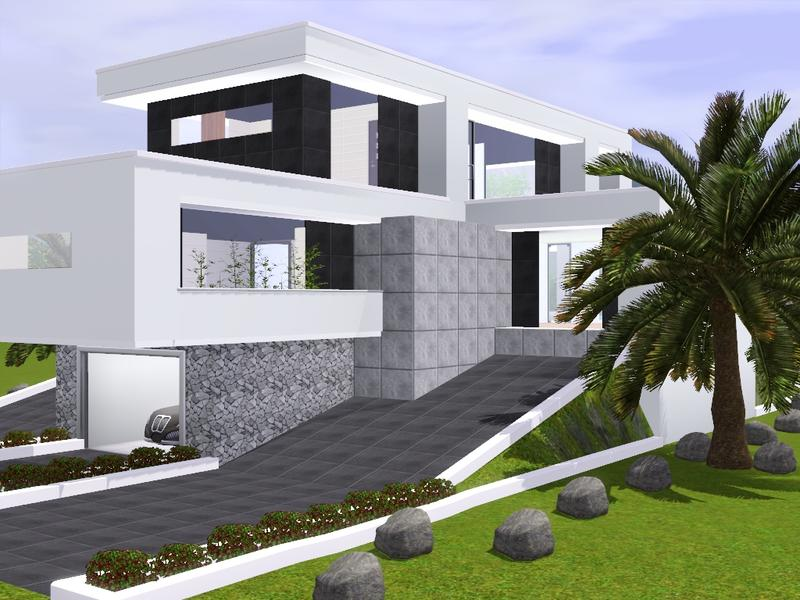 gox35 39 s modern home on slope
