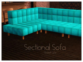 Sims 3 — Sectional Sofa Street Life by Kiolometro — Street life, bold and strong. Your Sims enjoy their new furniture.