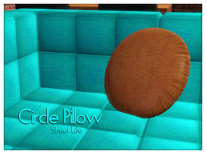 Sims 3 — Circle Pillow Street Life by Kiolometro — Street life, bold and strong. Your Sims enjoy their new furniture.