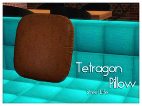Sims 3 — Tetragon Pillow Street Life by Kiolometro — Street life, bold and strong. Your Sims enjoy their new furniture.