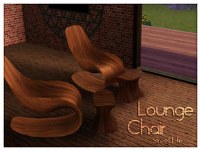 Sims 3 — Lounge Chair Street Life by Kiolometro — Street life, bold and strong. Your Sims enjoy their new furniture.