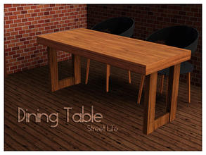Sims 3 — Dining Table Street Life by Kiolometro — Street life, bold and strong. Your Sims enjoy their new furniture.