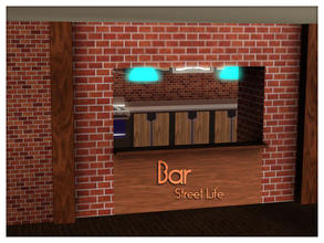 Sims 3 — Bar Street Life by Kiolometro — Street life, bold and strong. Your Sims enjoy their new furniture. Consists of