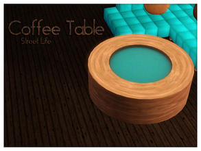 Sims 3 — Coffee Table Street Life by Kiolometro — Street life, bold and strong. Your Sims enjoy their new furniture.