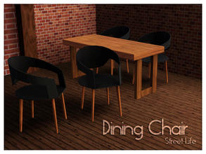 Sims 3 — Dining Chair Street Life by Kiolometro — Street life, bold and strong. Your Sims enjoy their new furniture.